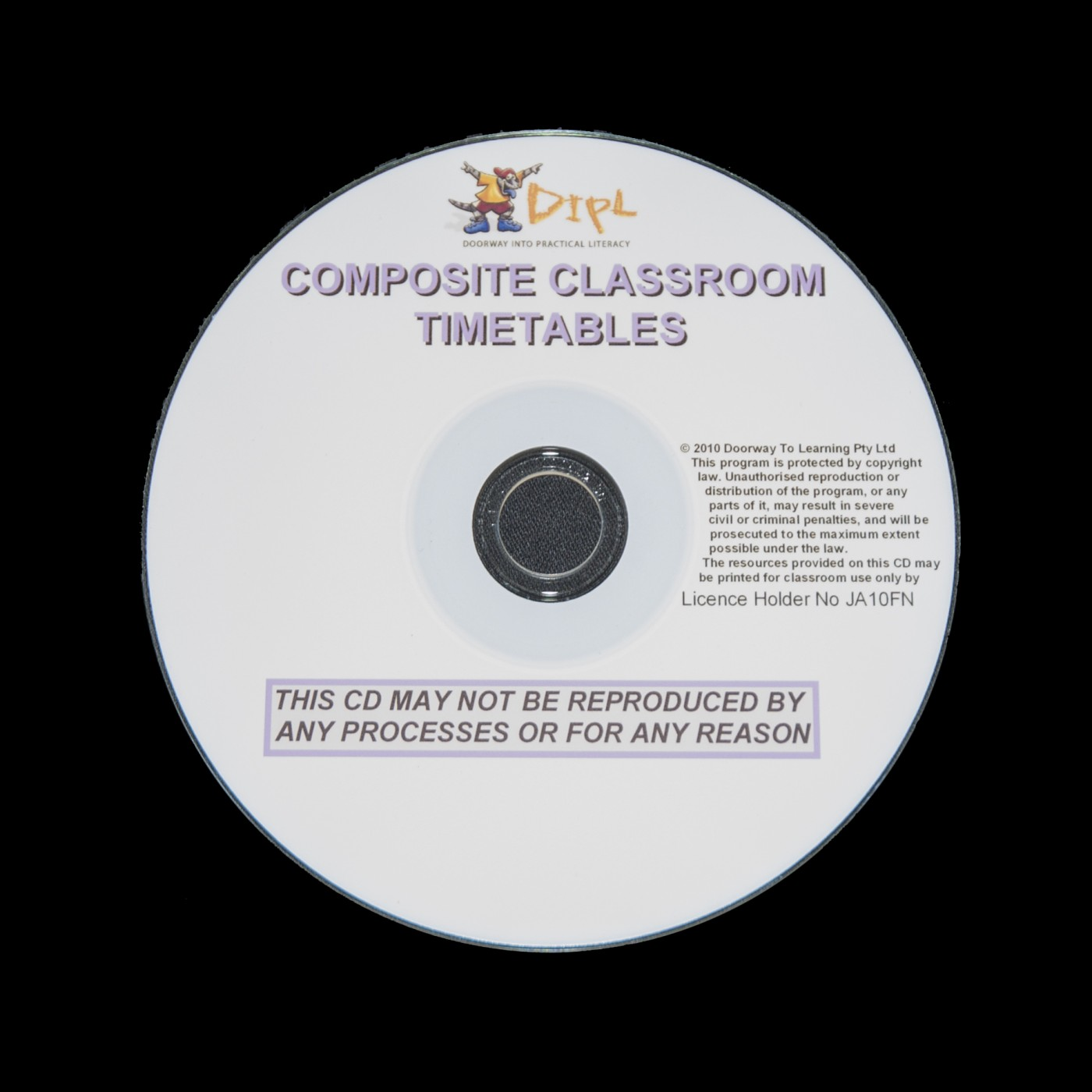 Composite Classroom Timetables on CD