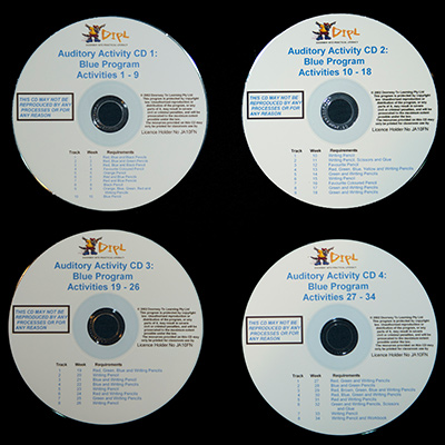 Blue Auditory CDs
