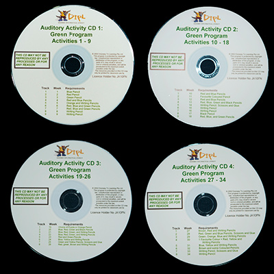 Green Auditory CDs