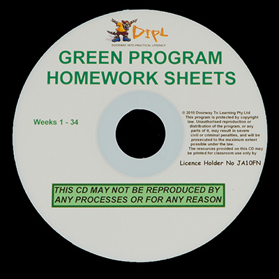 Green Homework Sheets CD