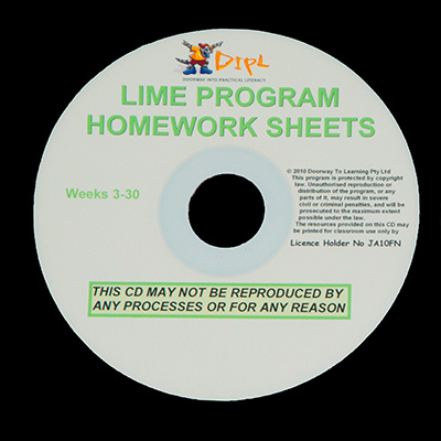 Lime Homework Sheets CD