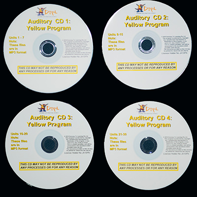 Yellow Auditory CDs